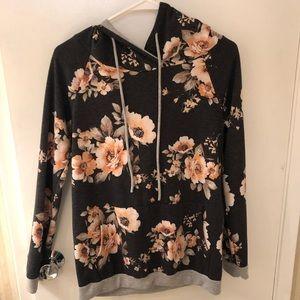 Vici Shay Hoodie Floral Sweatshirt - Size Medium